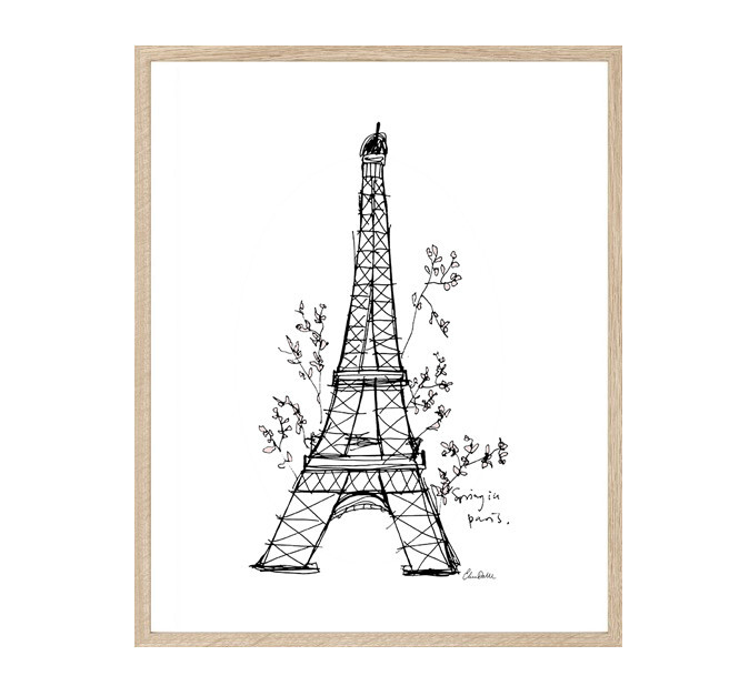 Print, Spring In Paris