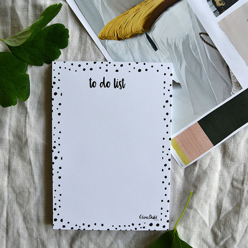 Anteckningsblock, to do list- dots.