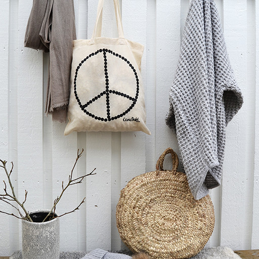 Tote bag, peace.