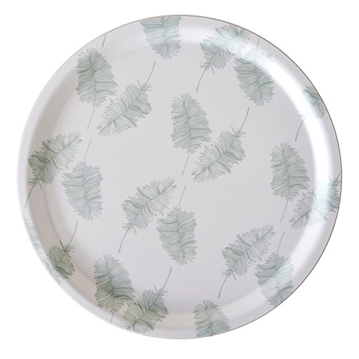 Tray, Feathers mint.