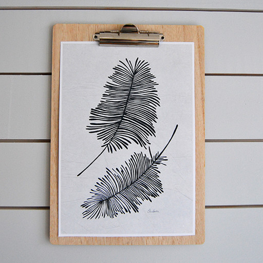 Print, Feathers.