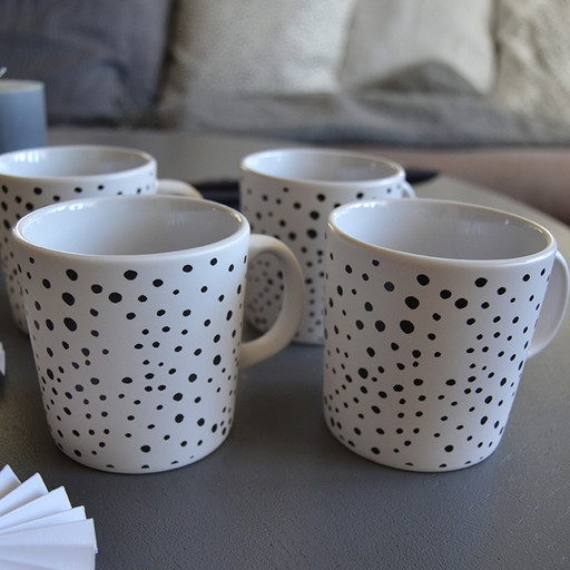 Mugg, dots 2-pack.