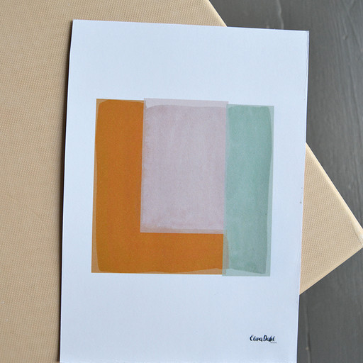 Print, Abstract square.
