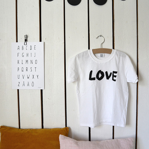 T-shirt Love, barnstorlek.