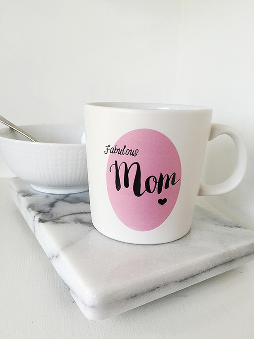Mugg, fabulous mom. Secondhand Elina Dahl Design.