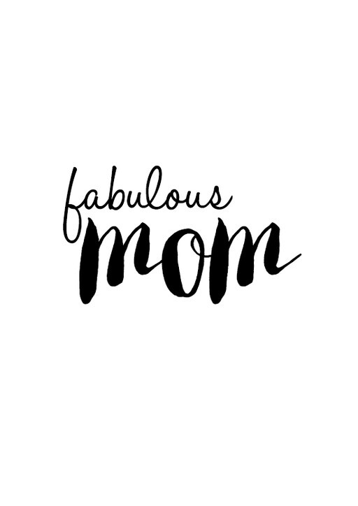 Morsdagskort, fabulous mom.