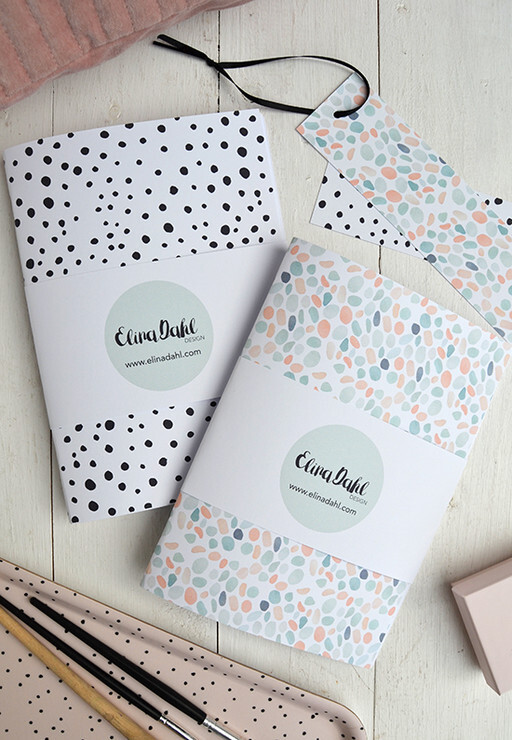 Notebook, dots. By Elina Dahl Design.