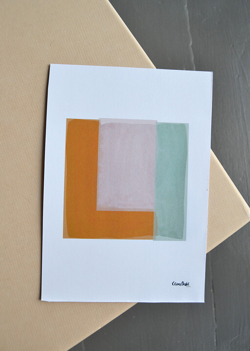 Print, Abstract square. Elinadahl Design.